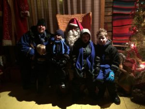 Kids Meeting Santa