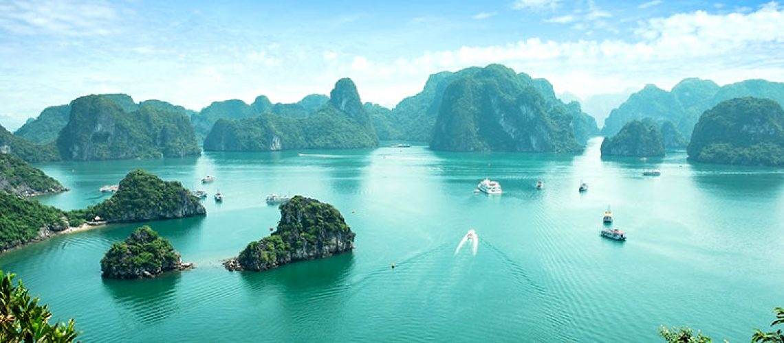halong bay vietnam from above